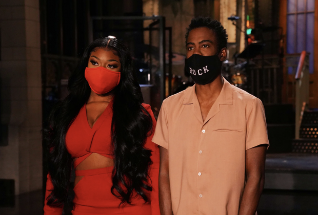 chris rock and meg thee stallion hosting SNL