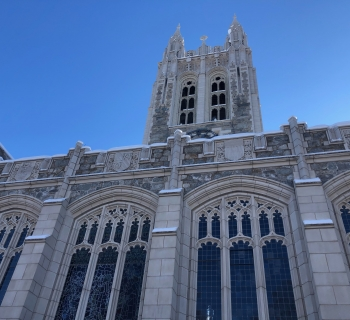 Photo of gasson in the snow.